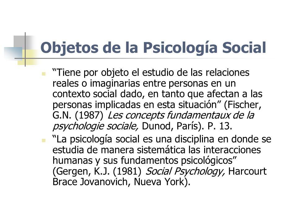 Objetos de la Psicología Social