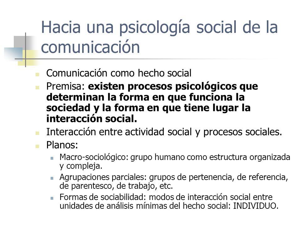 Hacia una psicología social de la comunicación