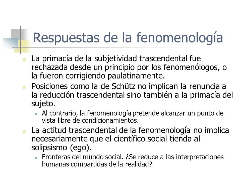 Respuestas de la fenomenología