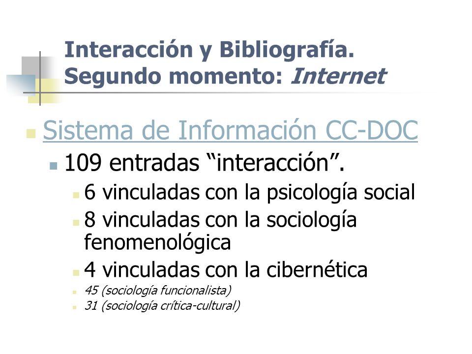 Interacción y Bibliografía. Segundo momento: Internet