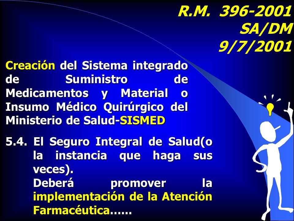 R.M. 396-2001 SA/DM 9/7/2001.