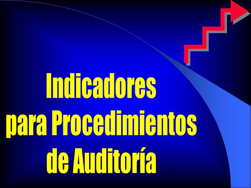 Indicadores para Procedimientos de Auditoría
