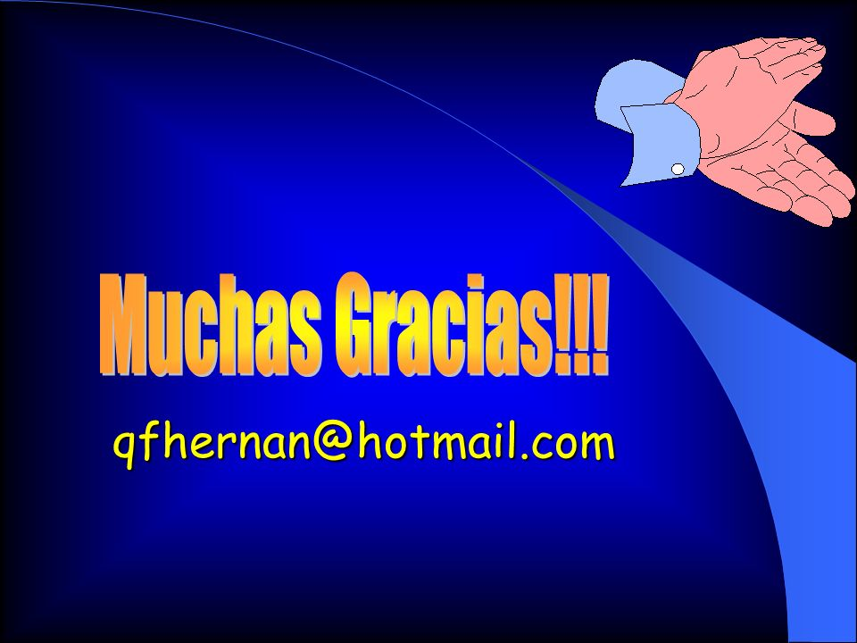 Muchas Gracias!!! qfhernan@hotmail.com