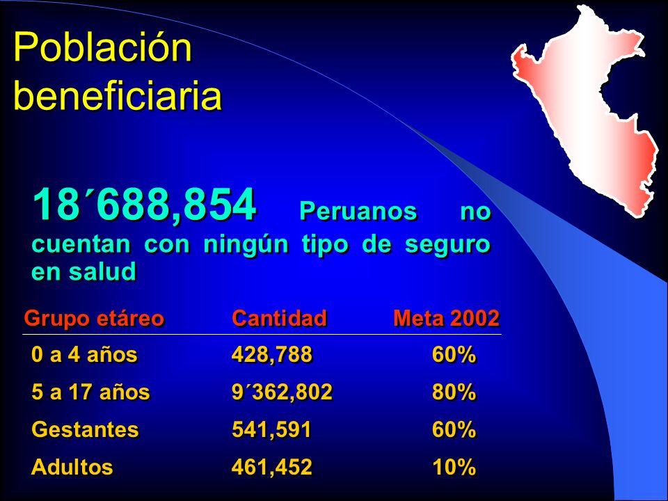 18´688,854 Peruanos no cuentan con ningún tipo de seguro en salud