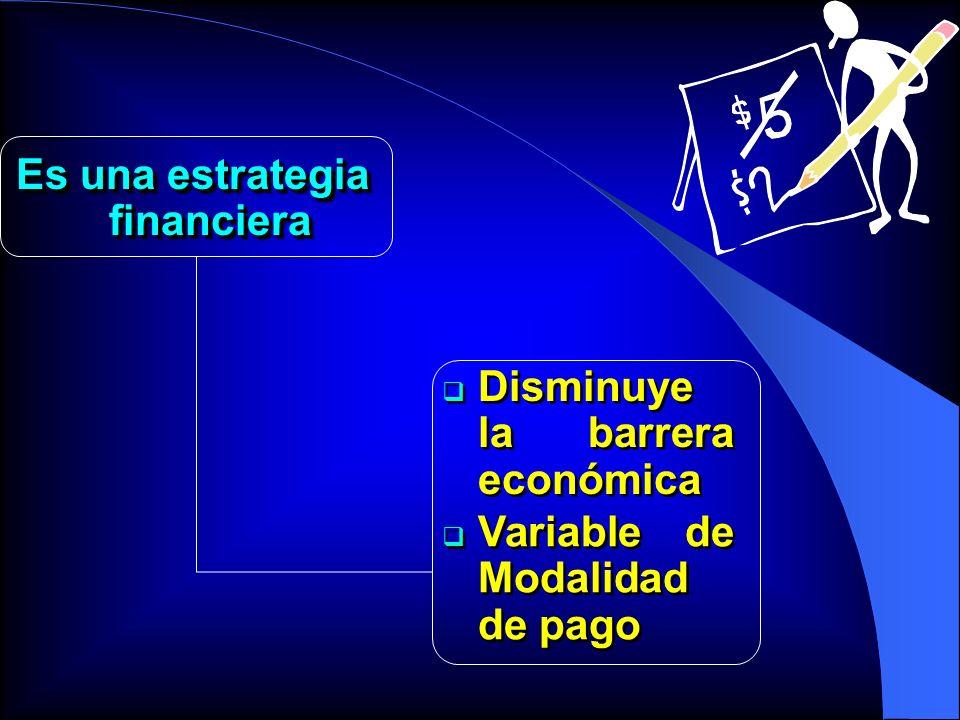 Es una estrategia financiera