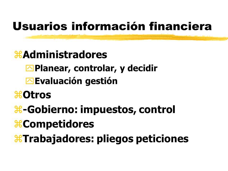 Usuarios información financiera