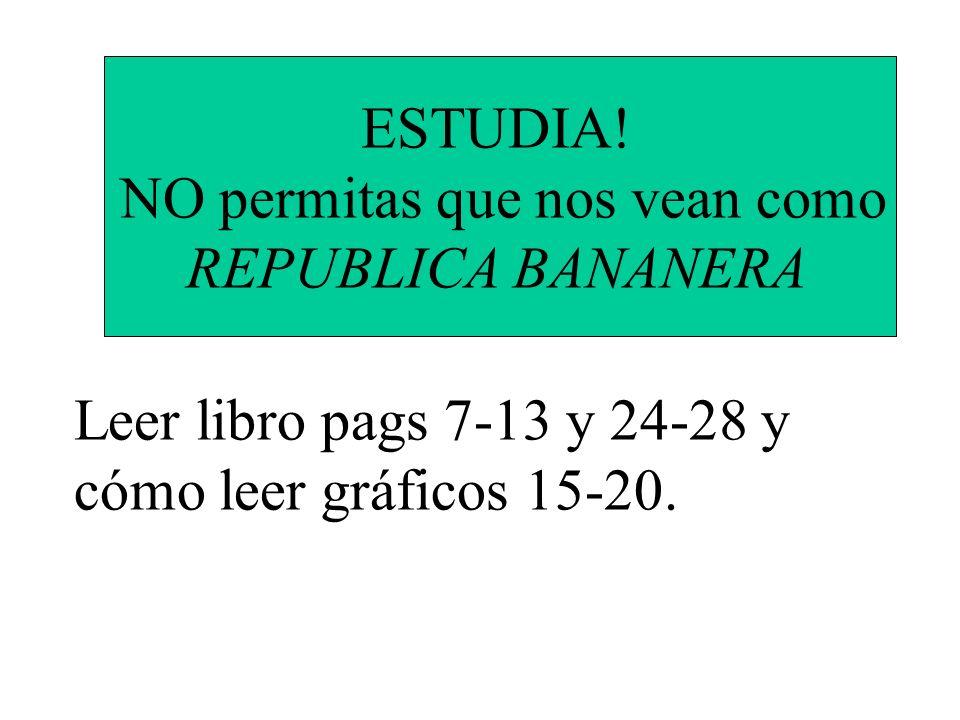ESTUDIA! NO permitas que nos vean como REPUBLICA BANANERA