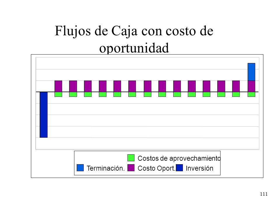 Flujos de Caja con costo de oportunidad
