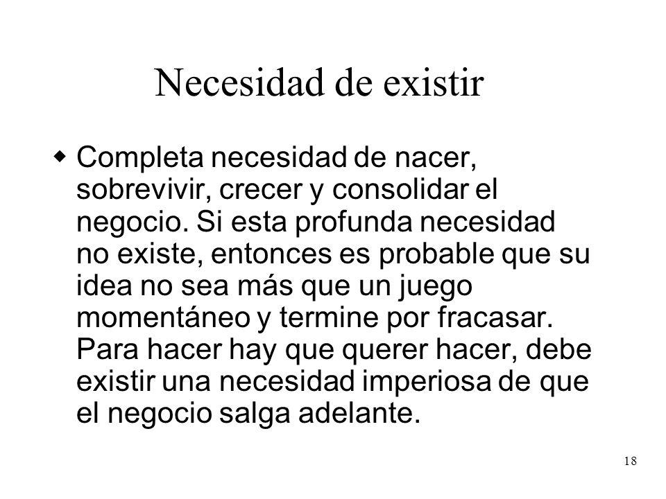 Necesidad de existir