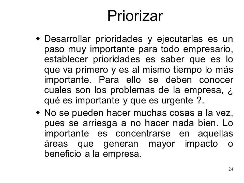 Priorizar