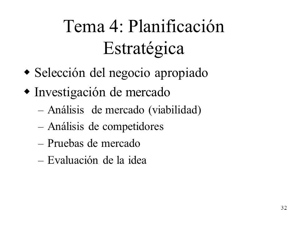 Tema 4: Planificación Estratégica