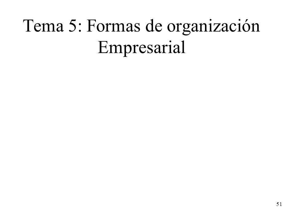 Tema 5: Formas de organización Empresarial