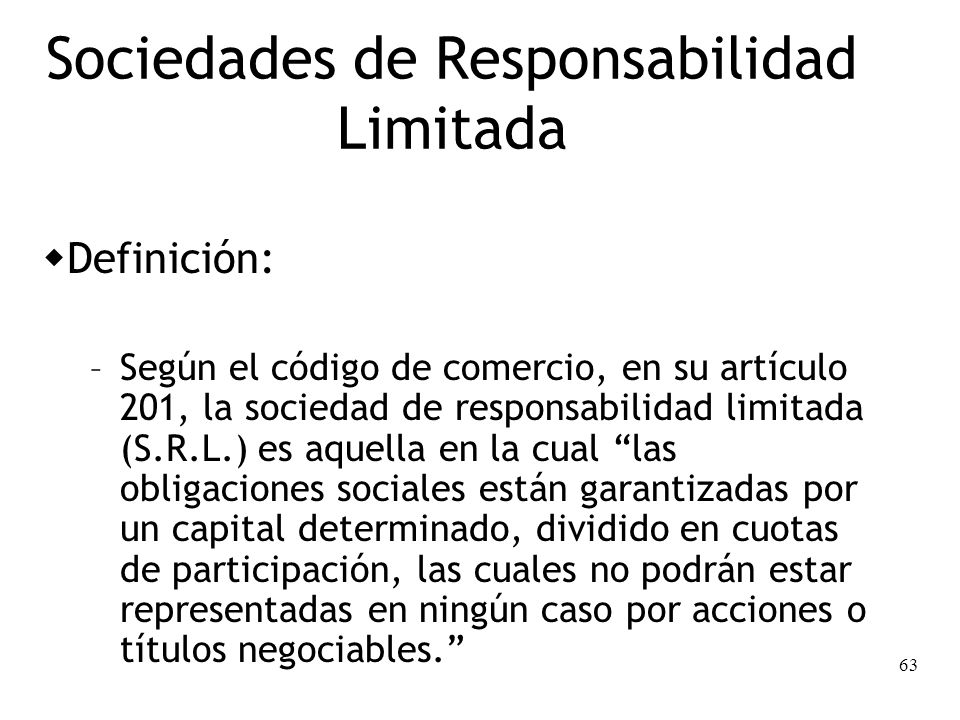 Sociedades de Responsabilidad Limitada