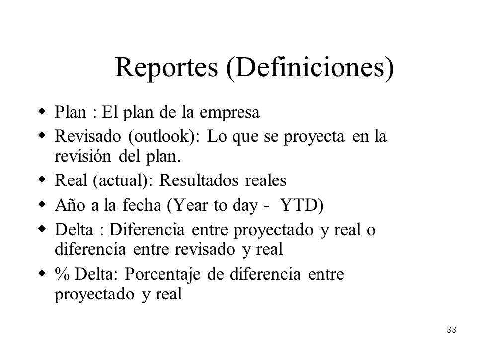 Reportes (Definiciones)