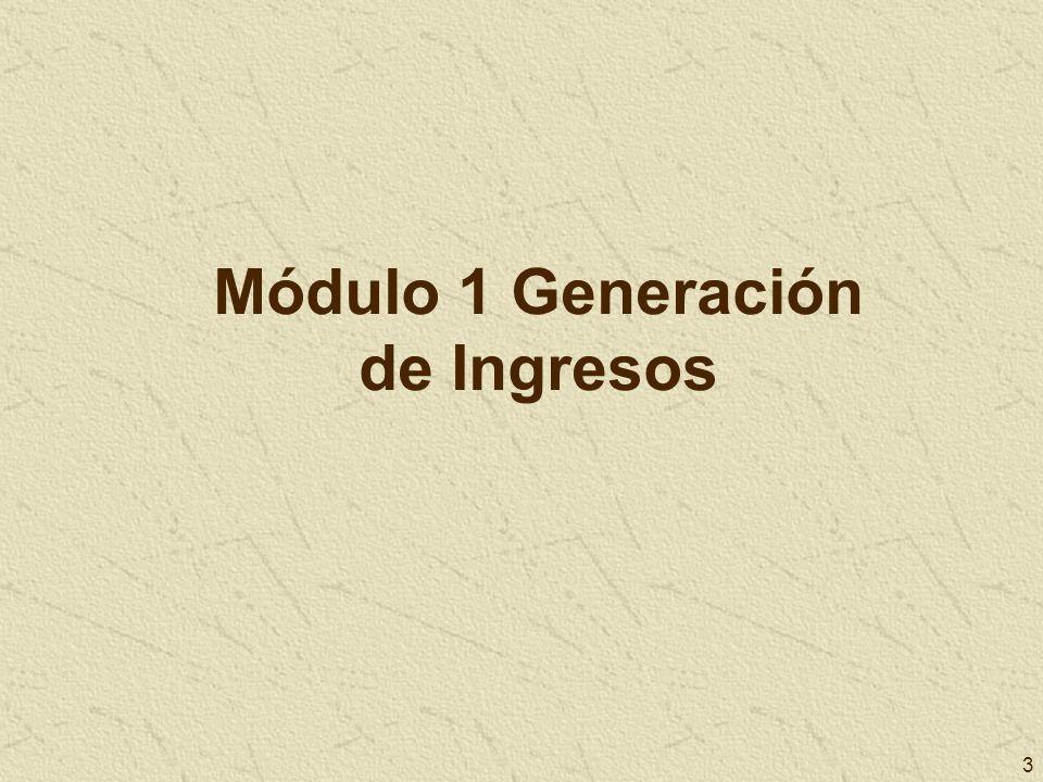 Módulo 1 Generación de Ingresos