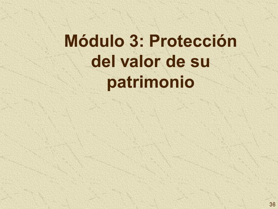 Módulo 3: Protección del valor de su patrimonio