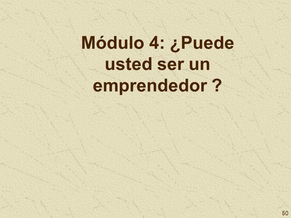 Módulo 4: ¿Puede usted ser un emprendedor