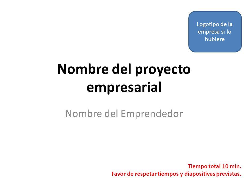 Nombre del proyecto empresarial