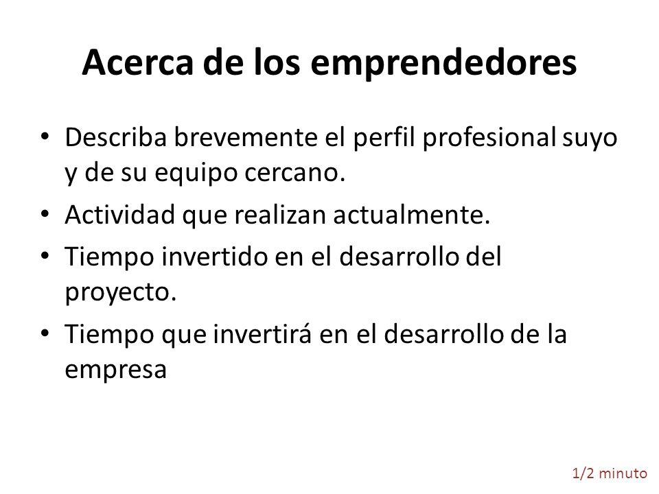 Acerca de los emprendedores