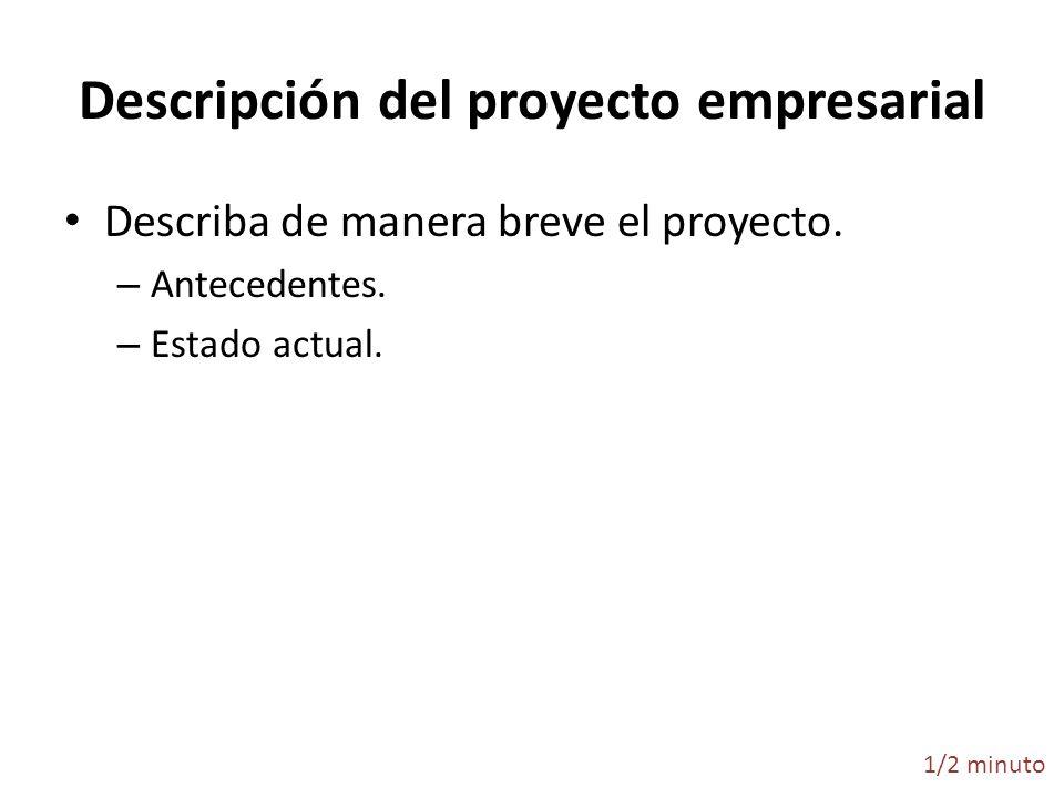 Descripción del proyecto empresarial