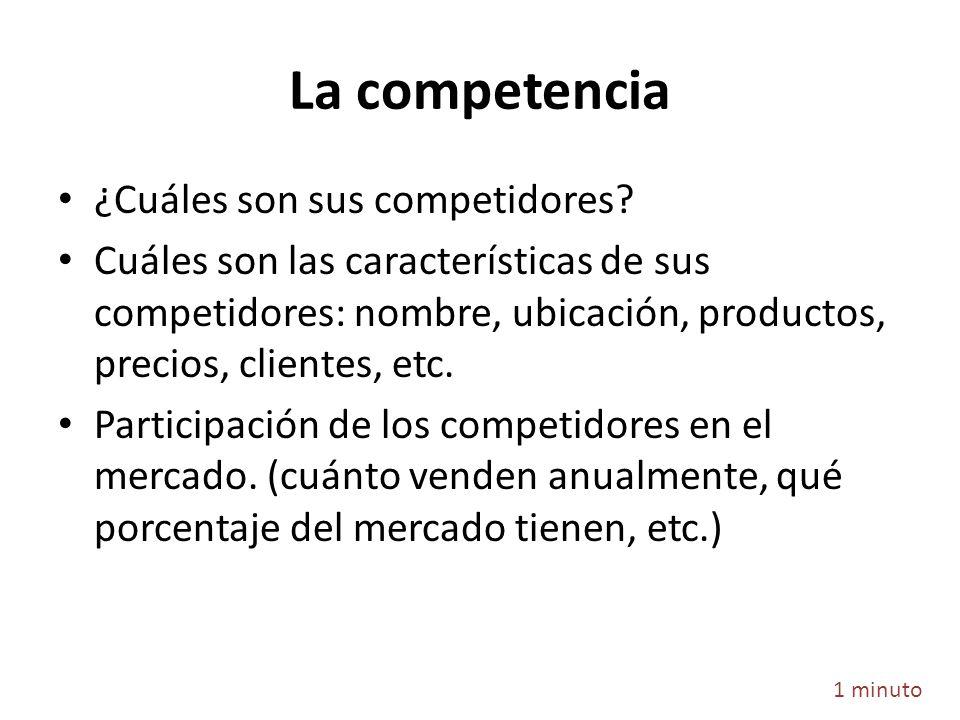 La competencia ¿Cuáles son sus competidores