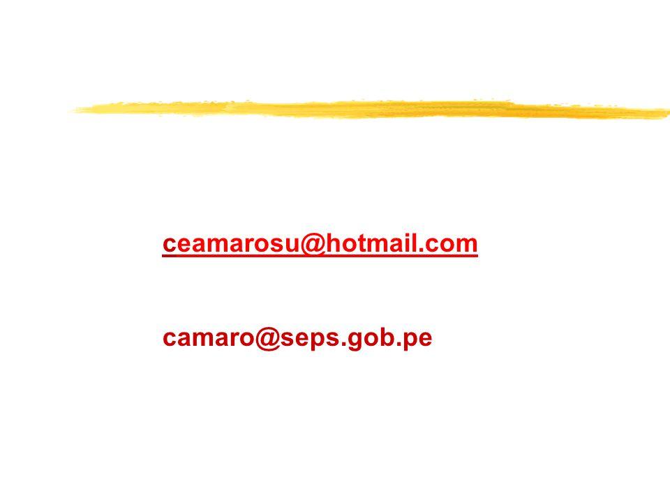 ceamarosu@hotmail.com camaro@seps.gob.pe
