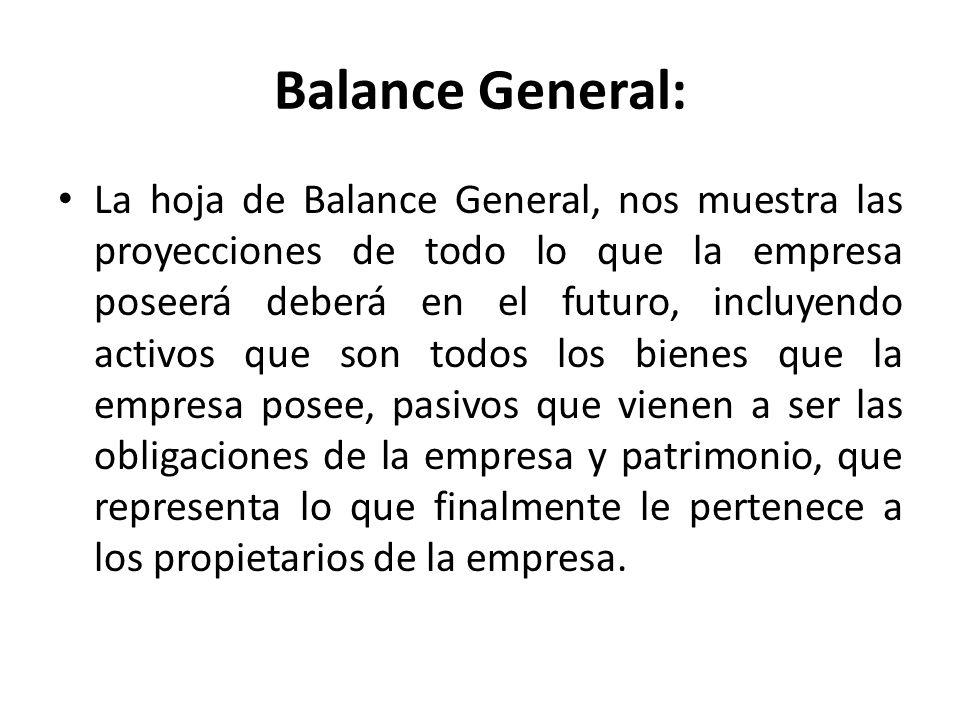 Balance General: