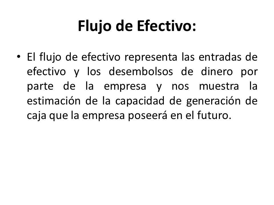 Flujo de Efectivo: