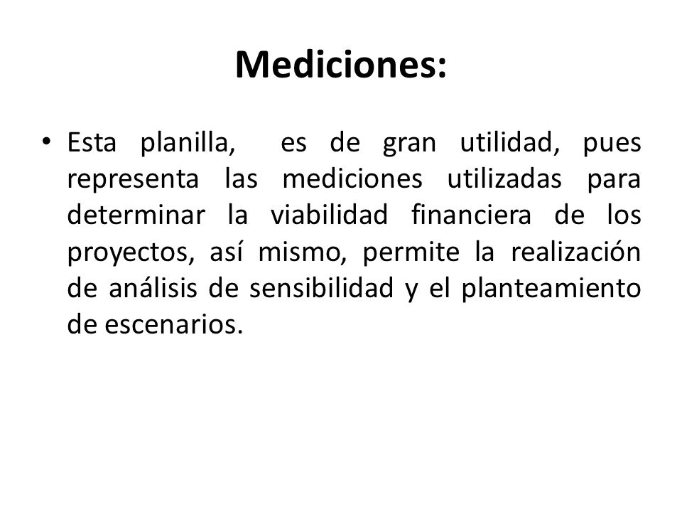 Mediciones: