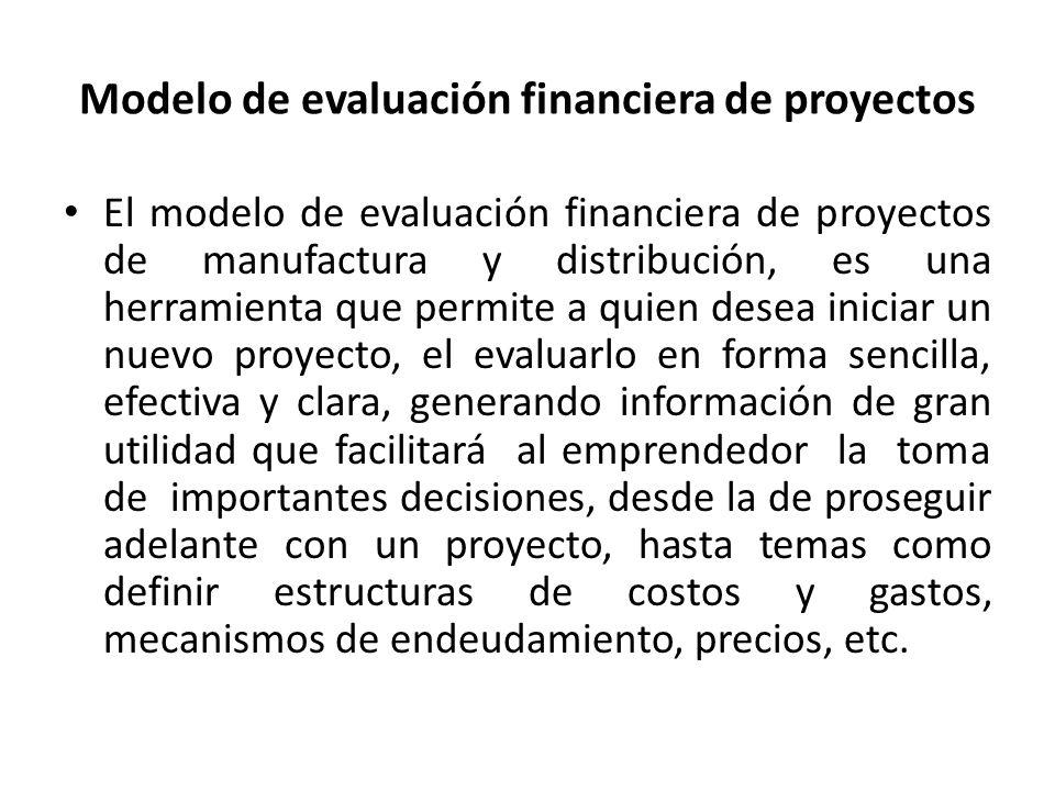 Modelo de evaluación financiera de proyectos
