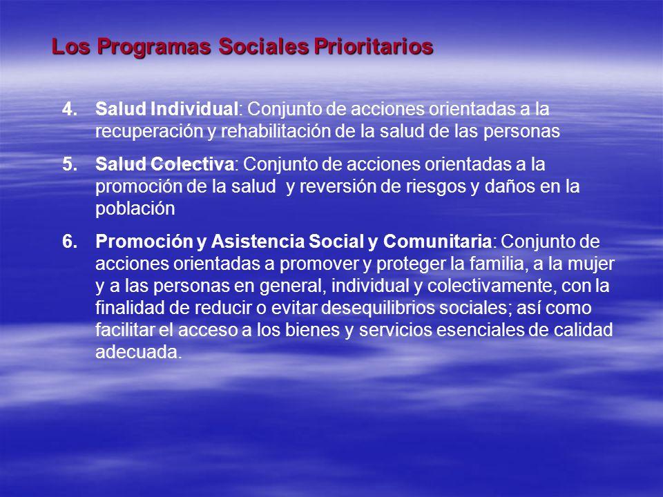 Los Programas Sociales Prioritarios