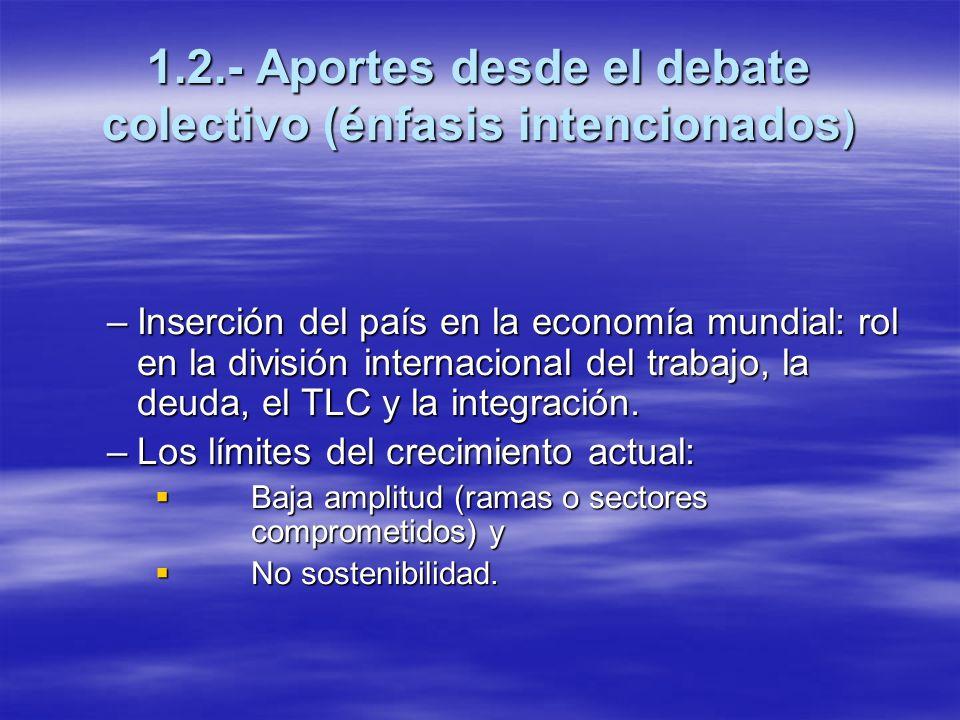 1.2.- Aportes desde el debate colectivo (énfasis intencionados)