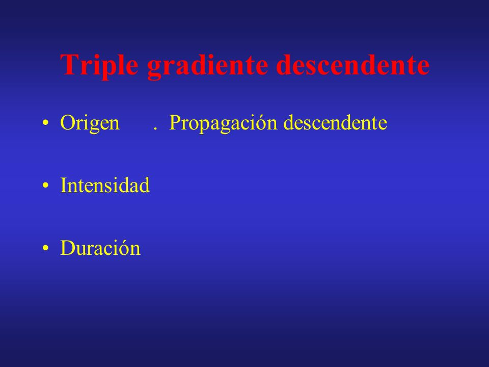 Triple gradiente descendente