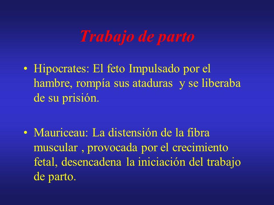 Trabajo de parto Hipocrates: El feto Impulsado por el hambre, rompía sus ataduras y se liberaba de su prisión.
