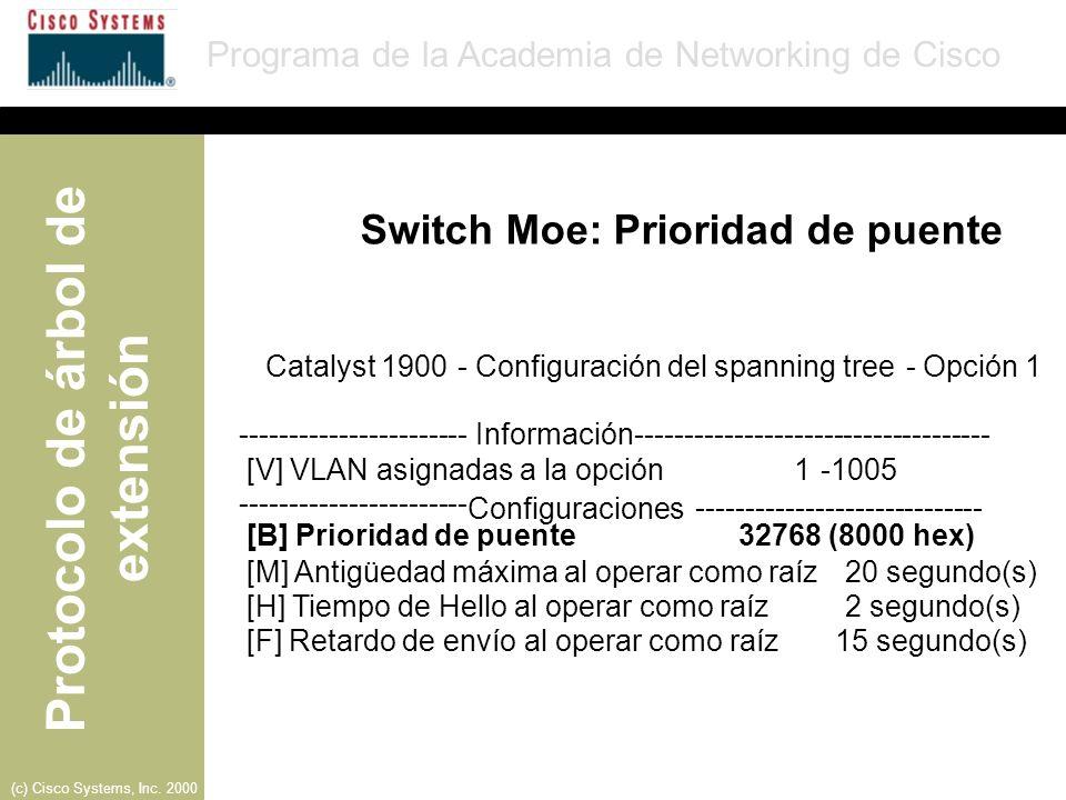 Switch Moe: Prioridad de puente