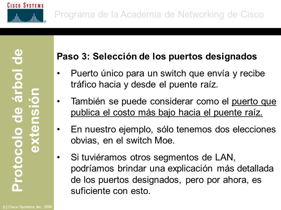 Paso 3: Selección de los puertos designados