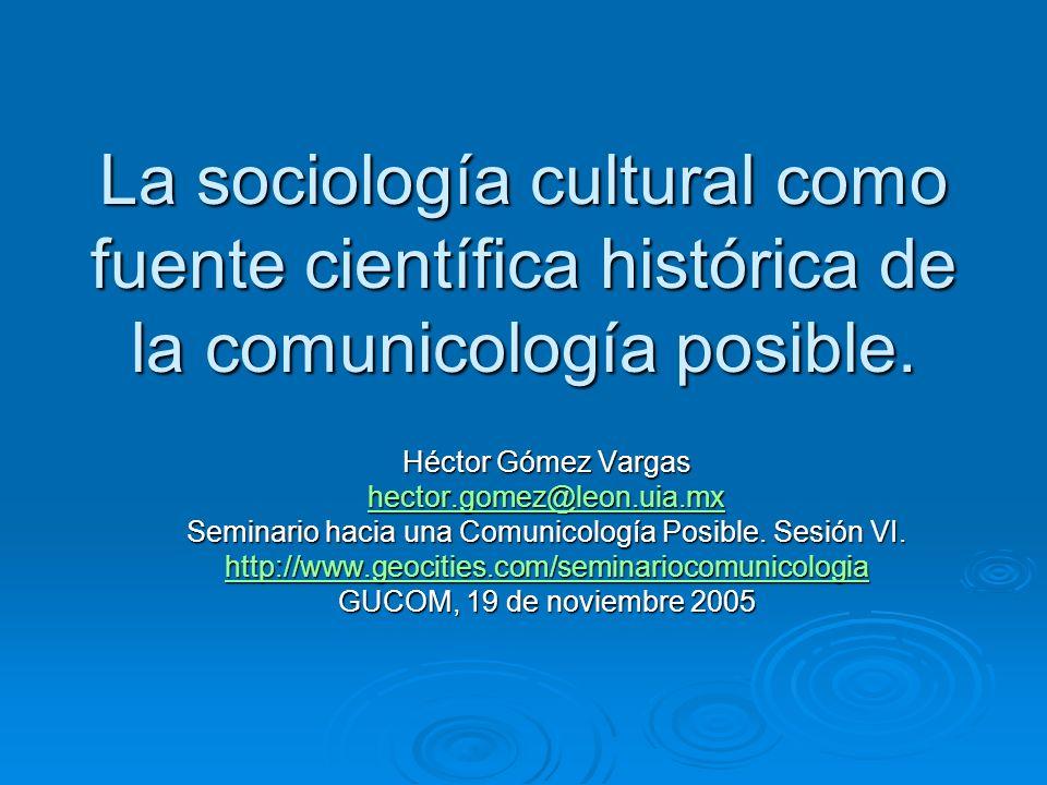 Seminario hacia una Comunicología Posible. Sesión VI.