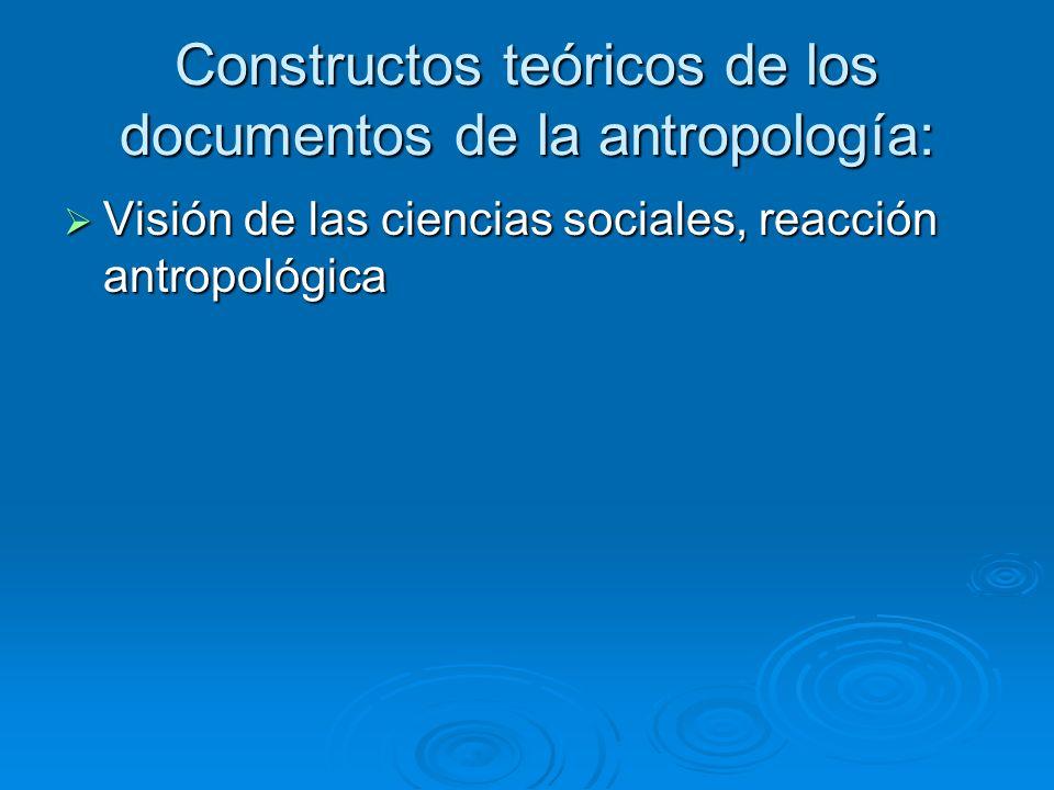 Constructos teóricos de los documentos de la antropología: