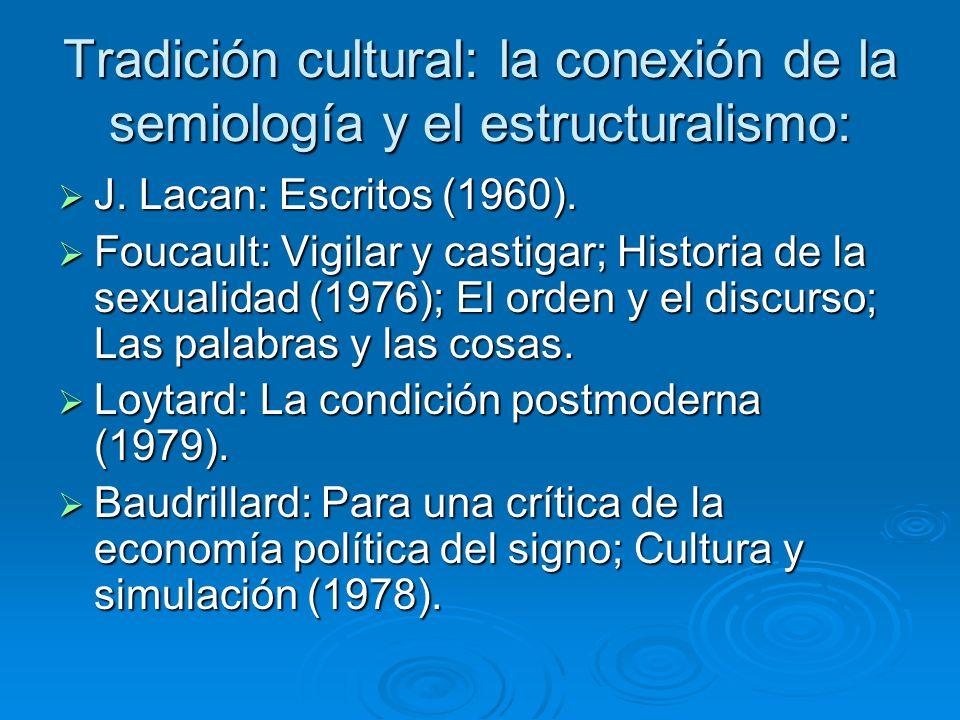 Tradición cultural: la conexión de la semiología y el estructuralismo: