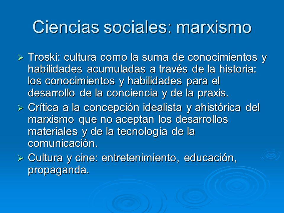 Ciencias sociales: marxismo