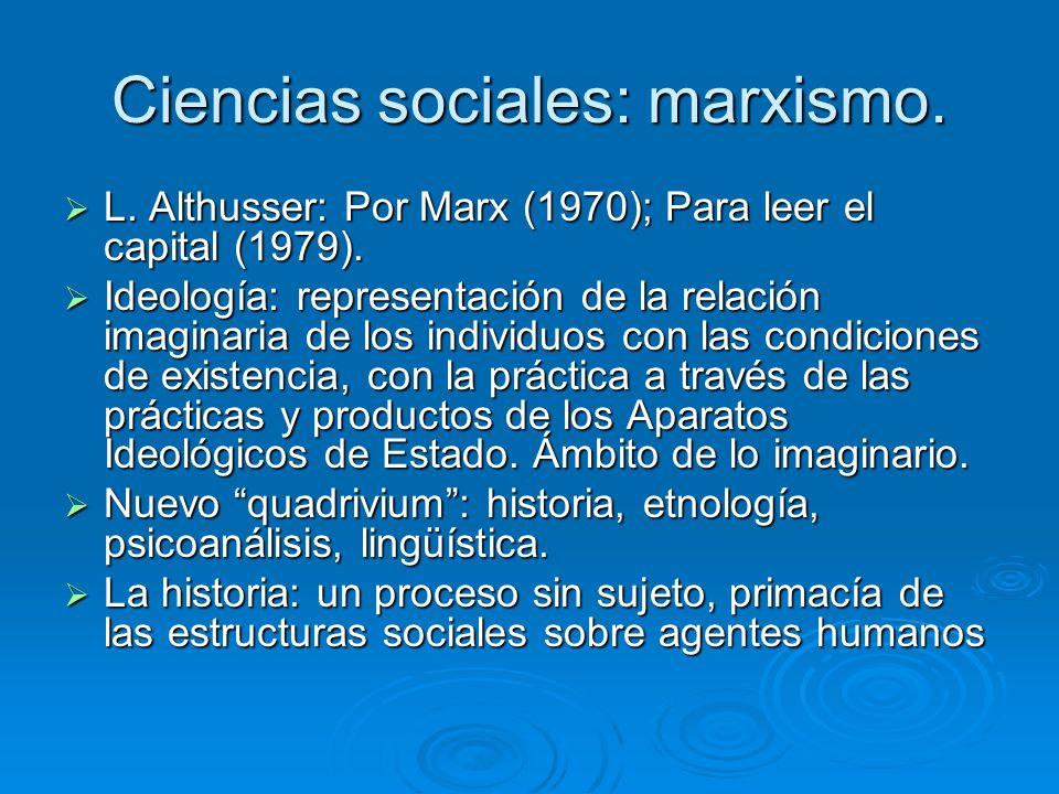 Ciencias sociales: marxismo.