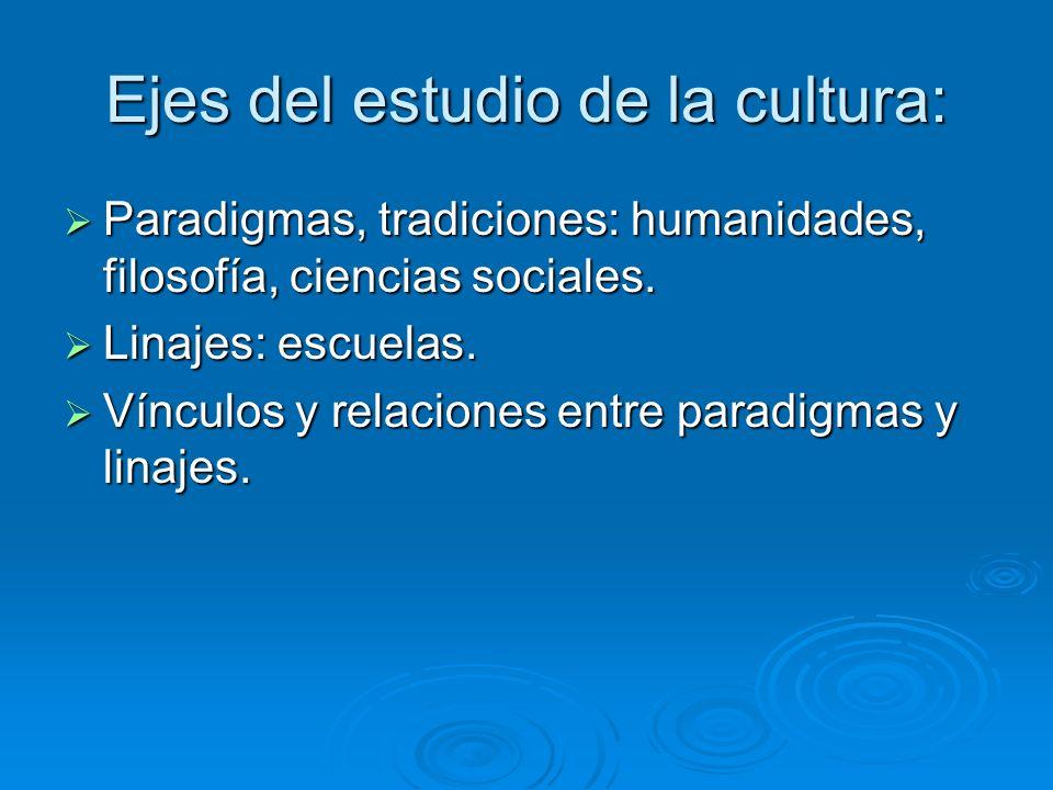 Ejes del estudio de la cultura: