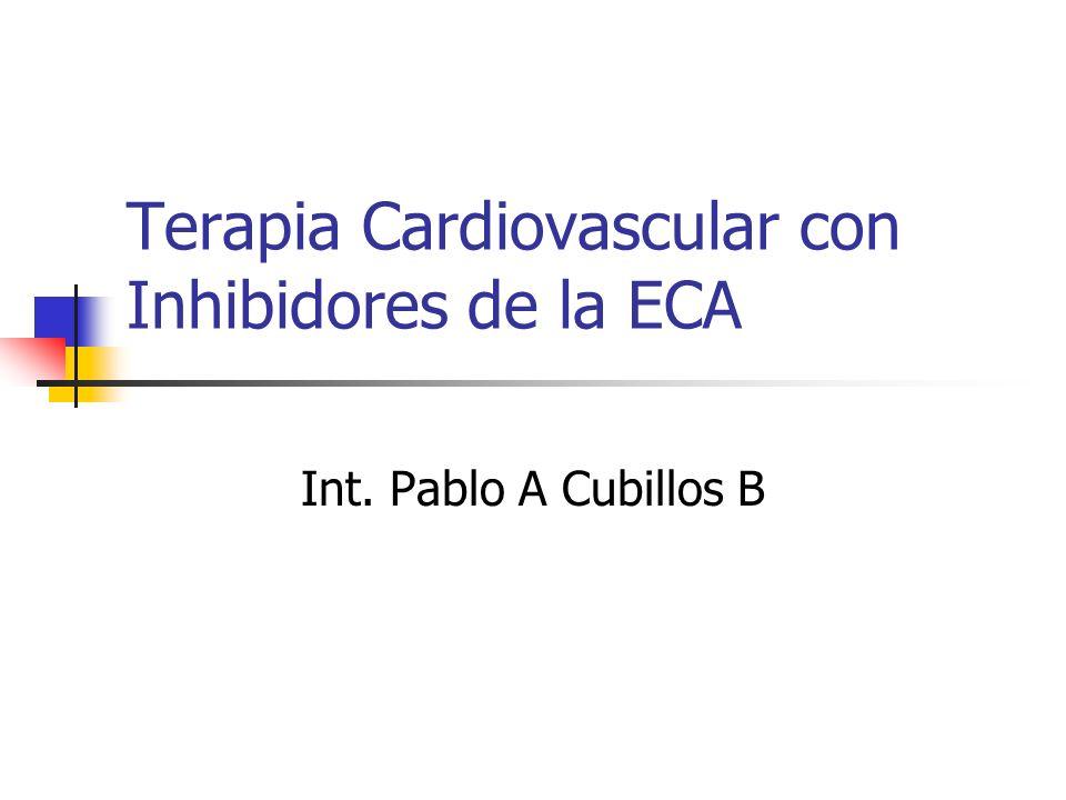 Terapia Cardiovascular con Inhibidores de la ECA