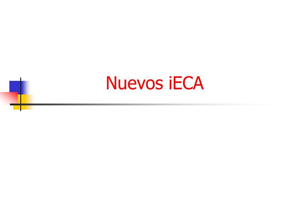 Nuevos iECA