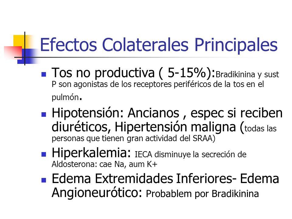 Efectos Colaterales Principales