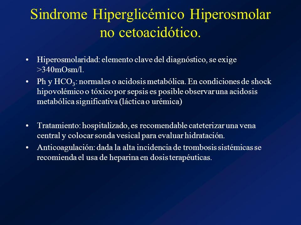 Sindrome Hiperglicémico Hiperosmolar no cetoacidótico.