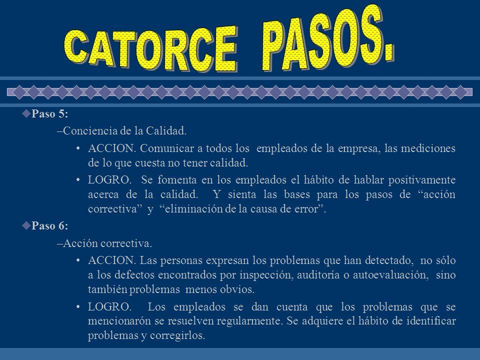 CATORCE PASOS. Paso 5: Conciencia de la Calidad.