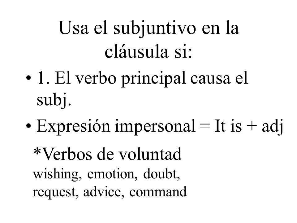 Usa el subjuntivo en la cláusula si:
