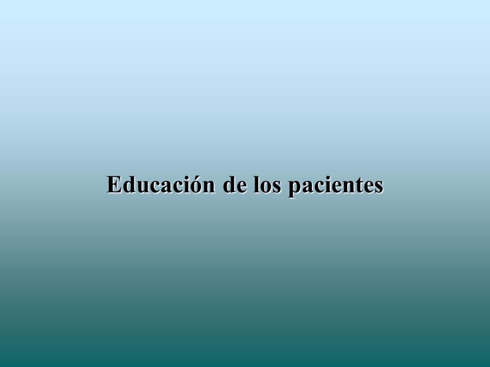 Educación de los pacientes