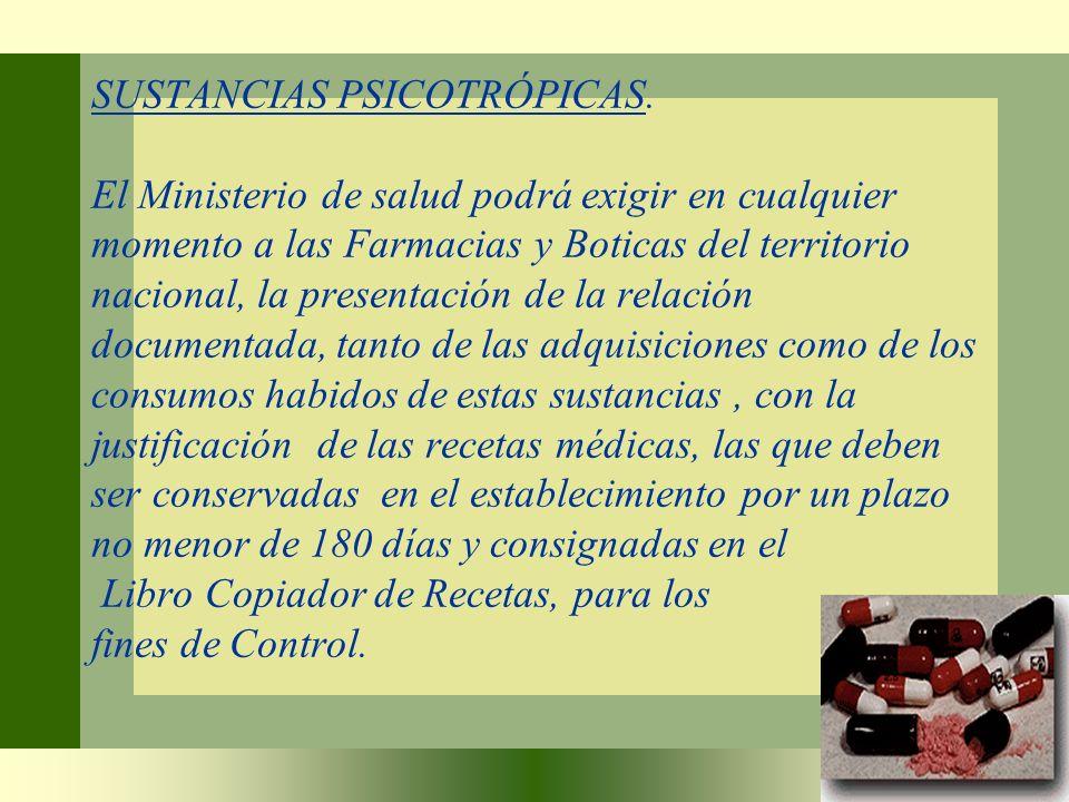 SUSTANCIAS PSICOTRÓPICAS